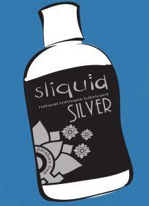 Silver - Silicone lube - Sliquid
